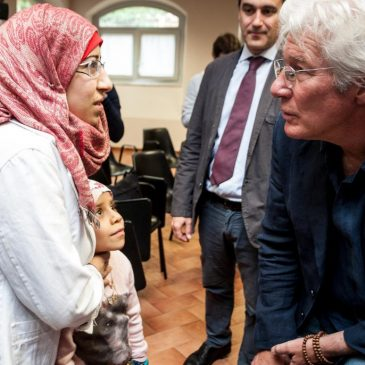 """Richard Gere at the Table for the Poor of Sant'Egidio: """"I am honored to be here, where people take care of other people"""""""